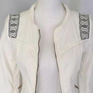 Zara Trafaluc Embroidered Jacket Size Small EUC